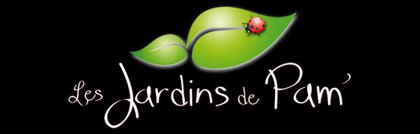 logo couleur fond noir Les Jardins de Pam