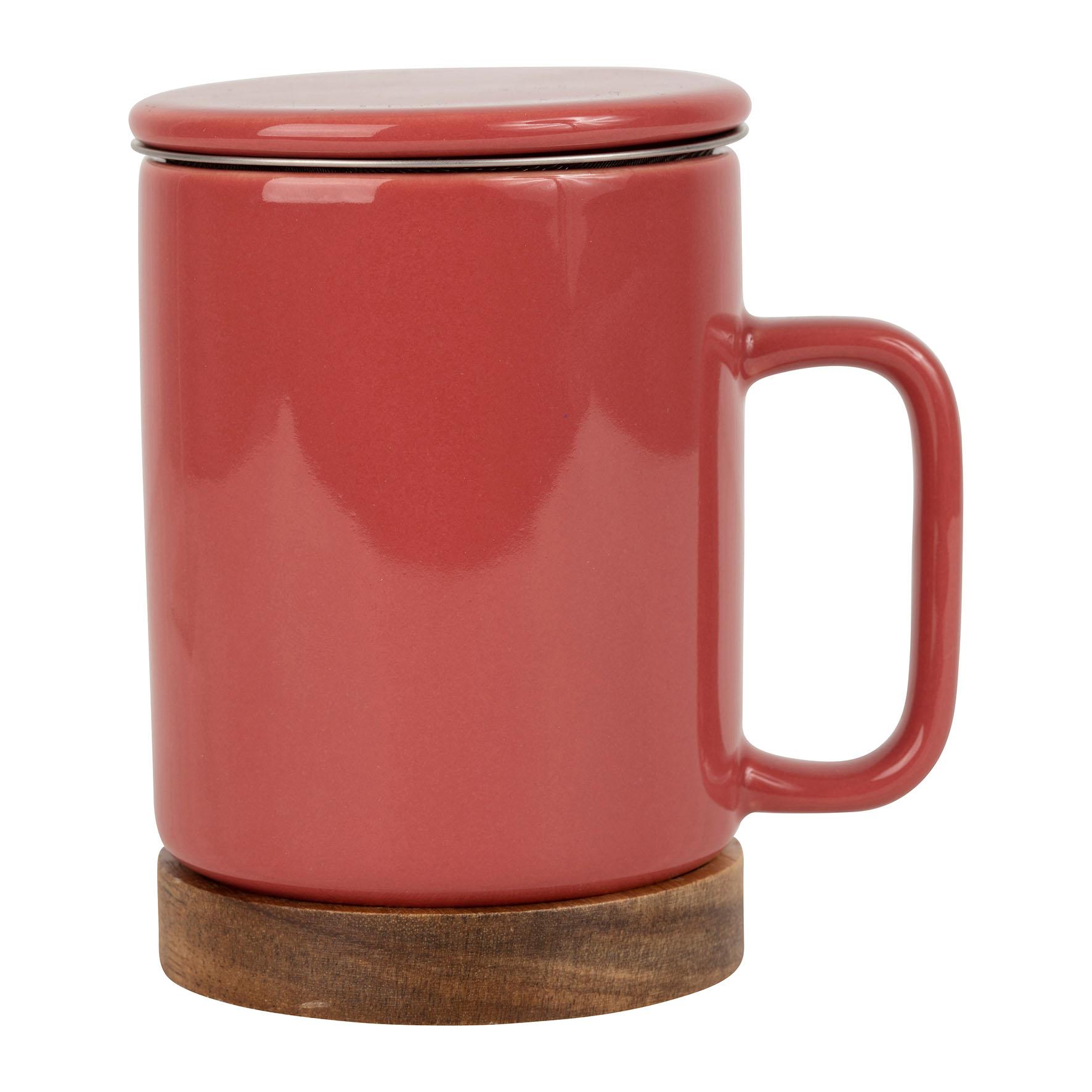 photo de Tisanière (bordeaux) Mug+Infuseur